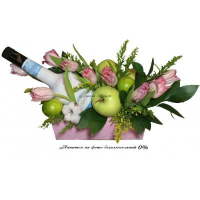 Цветочный фруктовый букет